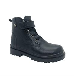 Ботинки для мальчика, цвет черный, липучка/шнурки