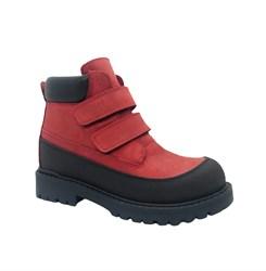 Ботинки для мальчика, цвет красный, на липучках