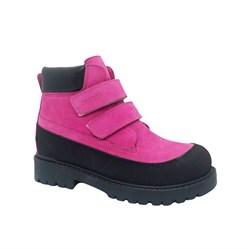 Ботинки для девочки, цвет фуксия, на липучках