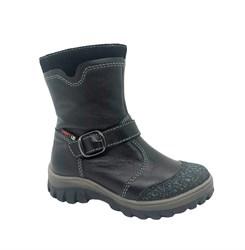 Ботинки для мальчика, цвет черный, на молнии