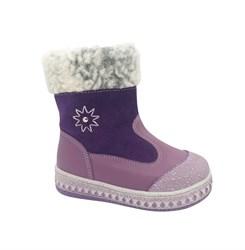 Ботинки малолетние для девочки, цвет малиновый, молния