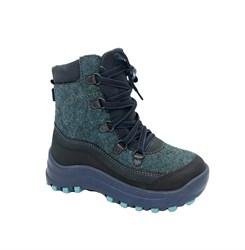 Ботинки для мальчика, цвет синий, шнурки/молния