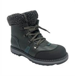 Ботинки для мальчика, цвет серый, на шнурках