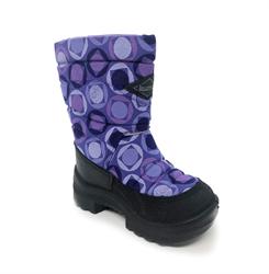 Сапожки для девочки, цвет фиолетовый с узором