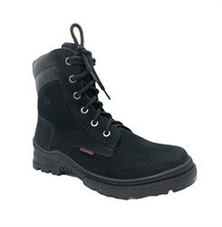 Ботинки для мальчика, цвет черный нубук, шнурки