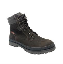 Ботинки для мальчика, цвет коричневый нубук, шнурки