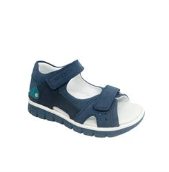 Сандалии для мальчика, цвет комбинированный синий/темно-синий на липучках