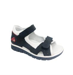 Сандалии для мальчика, цвет темно-синий (камуфляж), на липучках