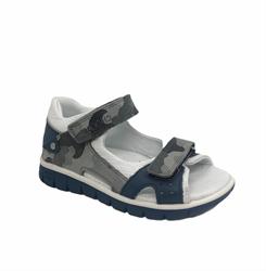 Сандалии для мальчика, цвет серый (камуфляж), на липучках