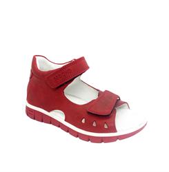 Сандалии для девочки, цвет красный, на липучках
