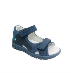 Сандалии для мальчика, цвет синий/темно-синий, на липучках