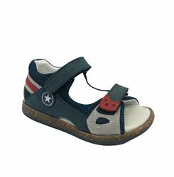 Сандалии для мальчика, цвет темно-синий/серый, на липучках
