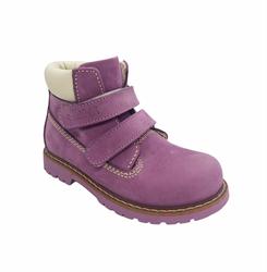 Ботинки для девочки/демисезон, цвет сиреневый, на липучках
