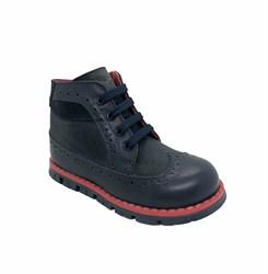 Ботинки для мальчика, цвет  синий, молния/шнурки