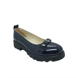Туфли для девочки, цвет синий, бантик