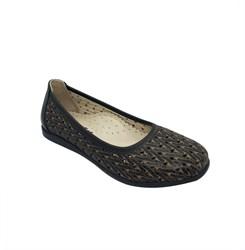 Туфли для девочки, цвет коричневый, перфорация