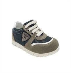 Кроссовки для мальчика, цвет коричневый, молния/шнурки