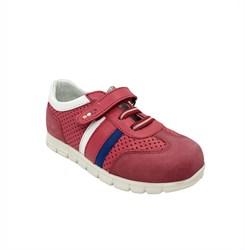 Кроссовки для девочки, цвет красный, шнурки/липучка