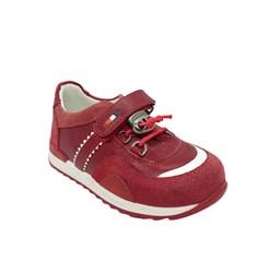 Кроссовки для девочки, цвет красный, шнурки-резинка/липучка