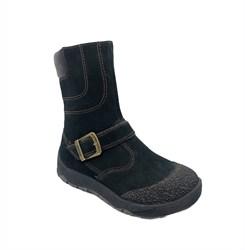 Ботинки для мальчика, зима, цвет темно-серый