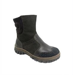 Ботинки для мальчика, зима, цвет коричневый