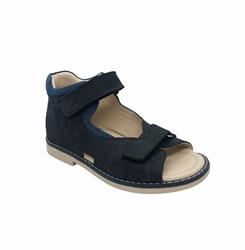 Сандалии ортопедические для мальчика, цвет темно-синий, на липучках