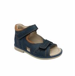 Сандалии ортопедические для мальчика, цвет синий, на липучках