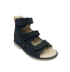 Сандалии ортопедические для мальчиков, цвет темно-синие, на липучках