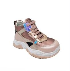 Ботинки кроссовочного типа,  для девочки, цвет пудровый