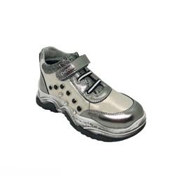 Ботинки кроссовочного типа,  для девочки, цвет  серебристо-серый