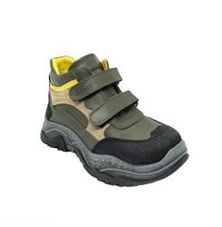 Ботинки кроссовочного типа,  для мальчика, цвет хаки, на липучках