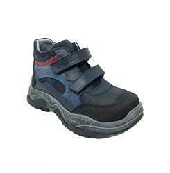 Ботинки кроссовочного типа,  для мальчика, цвет синий/черный, на липучках