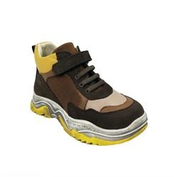 Ботинки кроссовочного типа,  для девочки, цвет  коричневый/бежевый