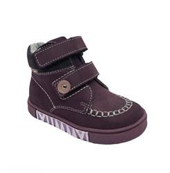 Ботинки для девочки, цвет бордовый, на липучках