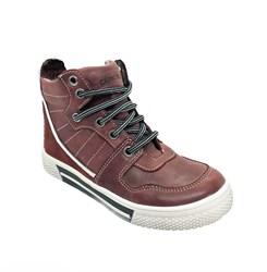 Ботинки - кеды для мальчика, цвет коричневый