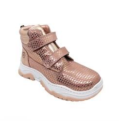Ботинки кроссовочного типа,  для девочки, цвет персиковый