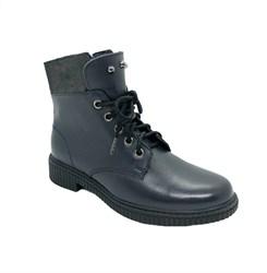 Ботинки для девочки, цвет синий, на молнии/шнурки
