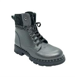 Ботинки для девочки, цвет темно-серый, молния/шнурки