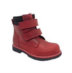 Ботинки для девочки, цвет красный, натуральный нубук