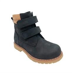 Ботинки для мальчика, демисезонные, цвет черный, на липучках
