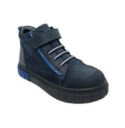 Ботинки - кеды для мальчика, цвет синий, на липучке/шнурки