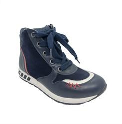 Ботинки демисезонные для мальчика, цвет синий, на шнурках