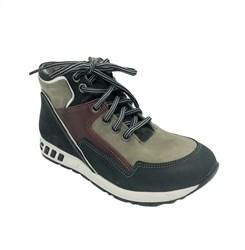 Ботинки демисезонные для мальчика, цвет серый, молния/шнурки