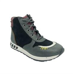 Ботинки демисезонные для мальчика, цвет темно-серый, молния/шнурки