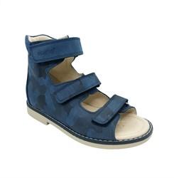 Сандалии ортопедические для мальчика, цвет синий (камуфляж), на липучках