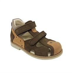 Сандалии ортопедические для мальчика, цвет коричневый/светло-коричневый
