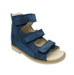 Сандалии ортопедические для мальчика, цвет синий (камуфляж)/голубой, на липучках