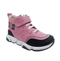 Ботинки демисезонные, цвет розовый, шнурки/липучка