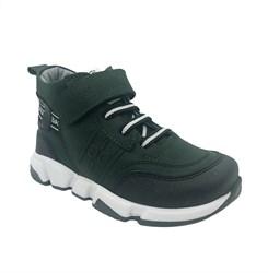 Ботинки демисезонные, цвет темно-зеленый, шнурки/липучка