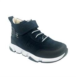 Ботинки демисезонные, цвет темно-синий, шнурки/липучка